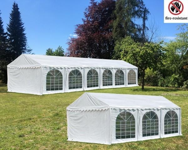Kombizelt 6x12 und 6x6m weiß PVC 2.30m Seitenhöhe