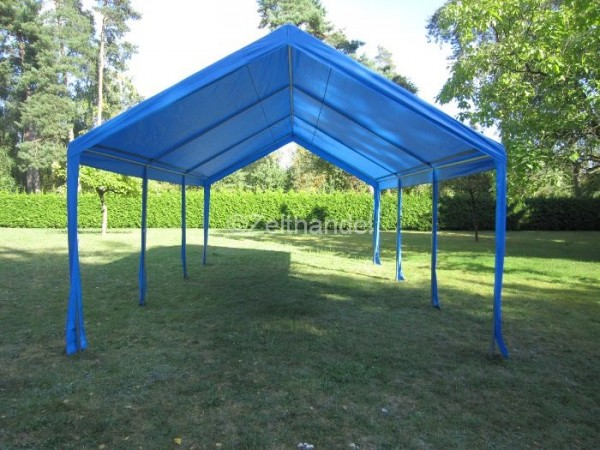 Zeltdach 4x4m, PE blau