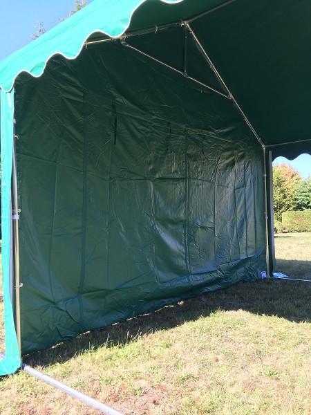 Zelt Trennwand 4m gruen PVC