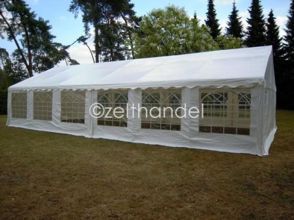 Partyzelt 6x12m Gigant 2,2m Seitenhöhe, PVC weiß feuerfest