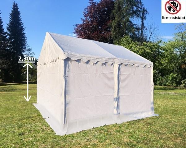 Lagerzelt 4x4m PVC feuerfest Seitenhöhe 2,30m