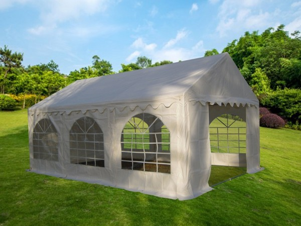 Partyzelt 3x6, PVC weiß mit Dach-und Bodenverstärkung