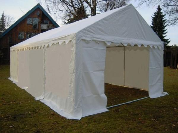 Lagerzelt 4x8m weiß PVC Dachverstärkung u. Bodenrahmen