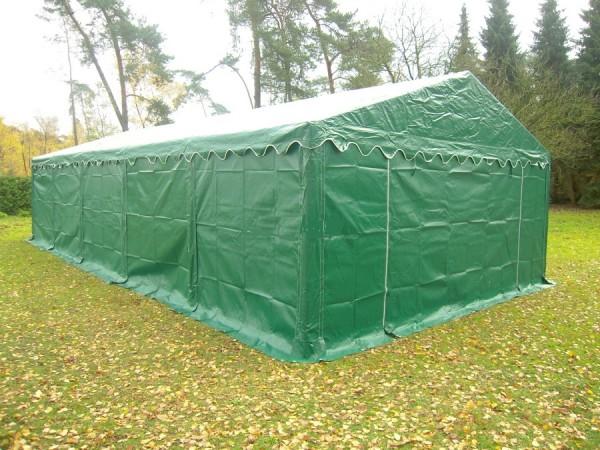6x8m Lagerzelt grün wetterfest PVC