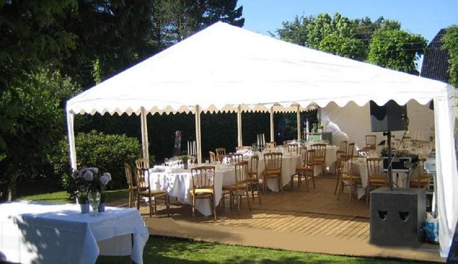 Hochzeitszelt 6x12m PVC weiß