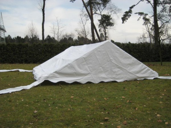 Zeltdach 6x6m, PVC weiß