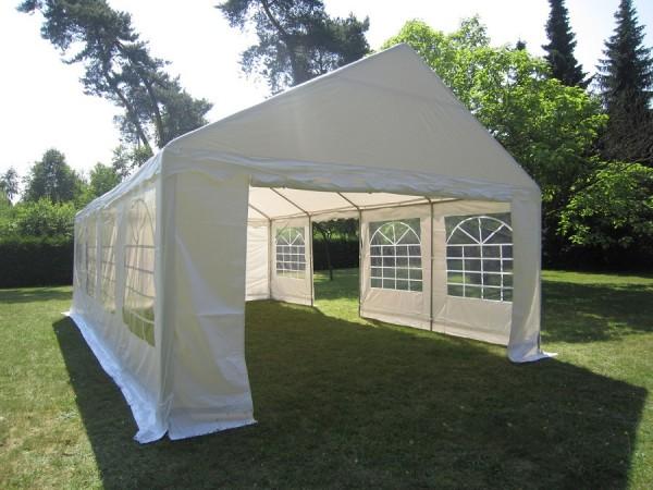 Partyzelt 4x8 PVC, weiß 2,20m Seitenhöhe