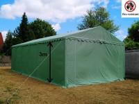 Lagerzelt 5x10m PVC 3m Einfahrt feuerfest