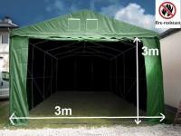 Lagerzelt 3x9 XXL PVC feuerfest - 3m Einfahrtshöhe
