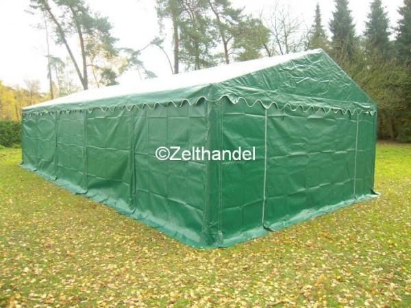 Lagerzelt 6x8 grün mit Dach- und Bodenrahmen