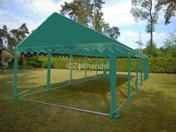 Zeltdach 4x10, PVC grün