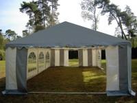 Partyzelt 6x12m PVC, Dach grau, Dach u.Bodenverstärkung