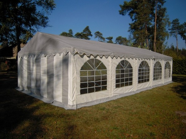 5x10m Partyzelt graues Dach PVC wasserdicht