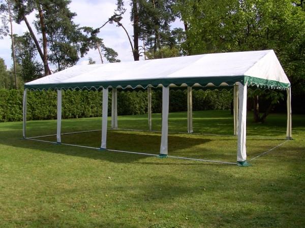Zelt Dachplane PVC 4x8m gruen-weiß wasserdicht