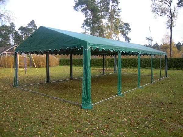 Zeltdach 4x10m, PVC grün