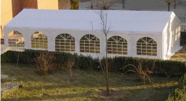 6x12m Partyzelt PVC weiß feuerresistent