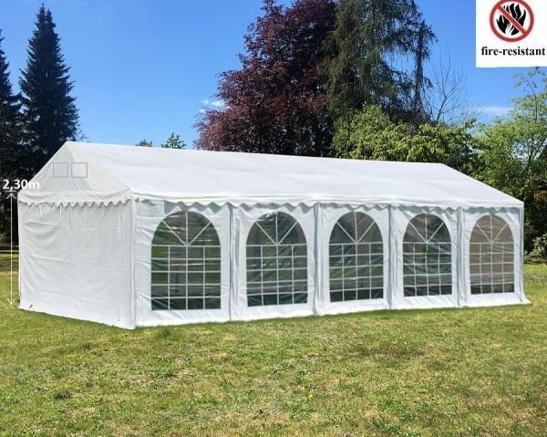 Partyzelt 3x10m Seitenhöhe 2.30m PVC weiß