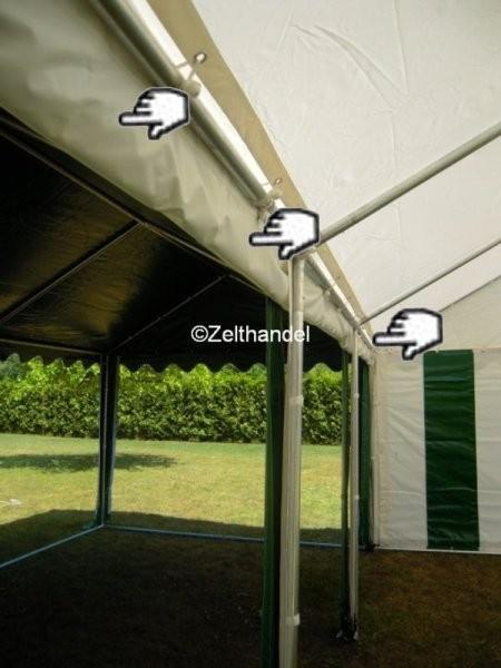 Zeltregenrinne 8m weiß PVC