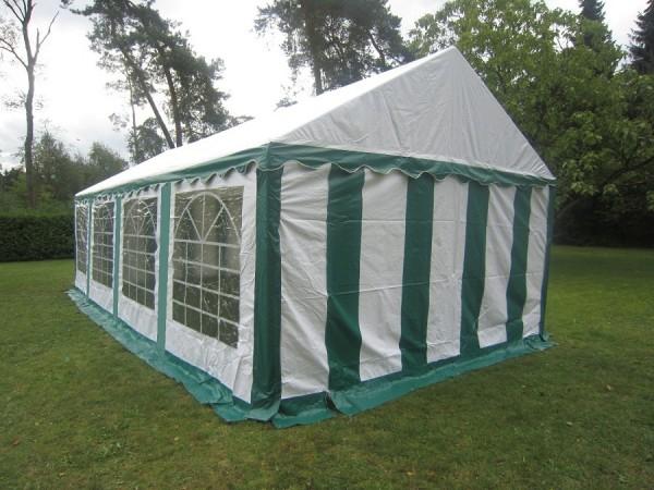 Partyzelt 4x8 m, PVC grün-weiß