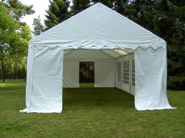 4x10m PVC Zelt weiß wasserdicht