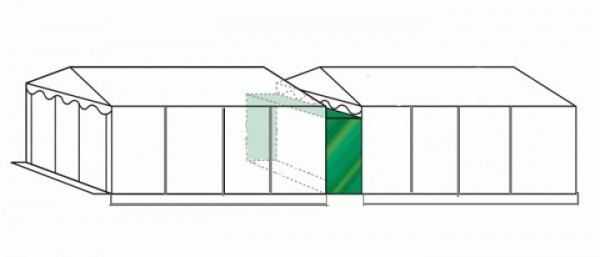 Regenrinne 5m PVC weiß für Partyzelt