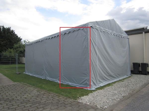 Seitenwand Lagerzelt 3x2m XXL, PVC grau ohne Fenster