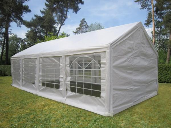 4x8m Partyzelt Gartenzelt weiß PE 240g/m²