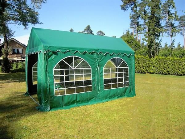 Partyzelt 3x4m PVC grün mit Bodenrahmen