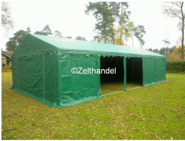 Lagerzelt 5x8 grün PVC, Dach-und Bodenrahmen