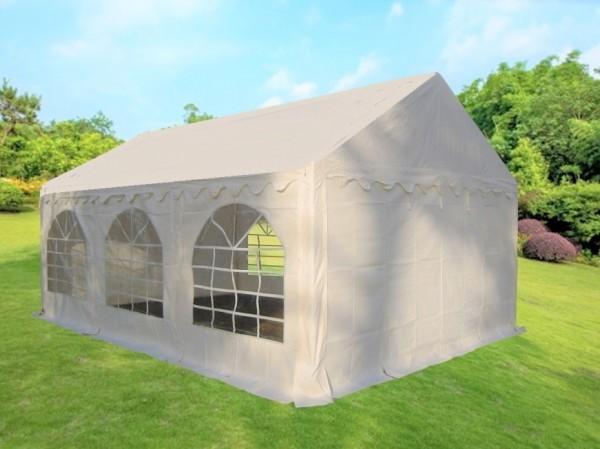 Partyzelt Gartenzelt 4x6m PVC weiß