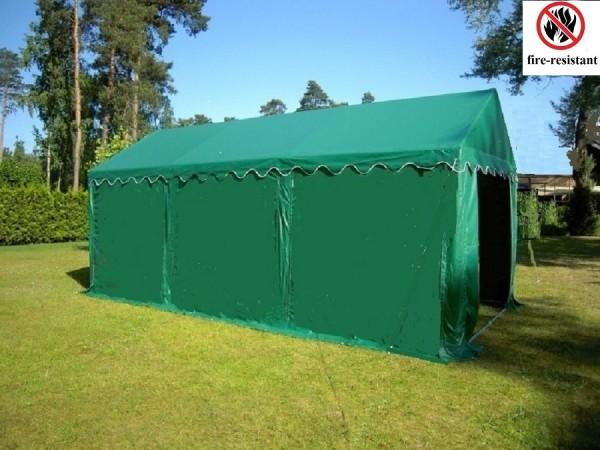 4x6m Lagerzelt grün feuerfest und wasserdicht