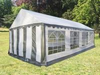 Partyzelt-Gartenzelt 4x8m PE grau