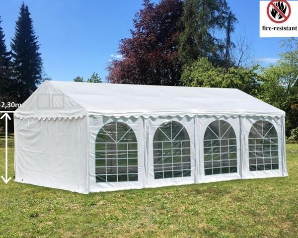 4x8m Partyzelt weiß PVC Seitenhöhe 2,30m