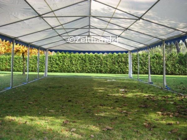 Partyzeltdach 6x8m, PVC blau-weiß