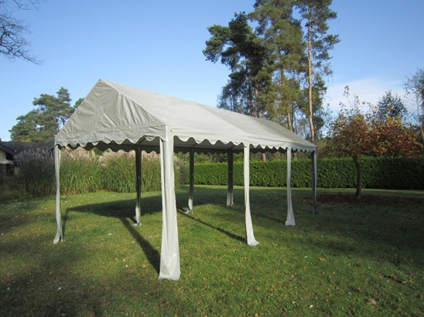 Dachplane Partyzelt 3x6m PVC grau