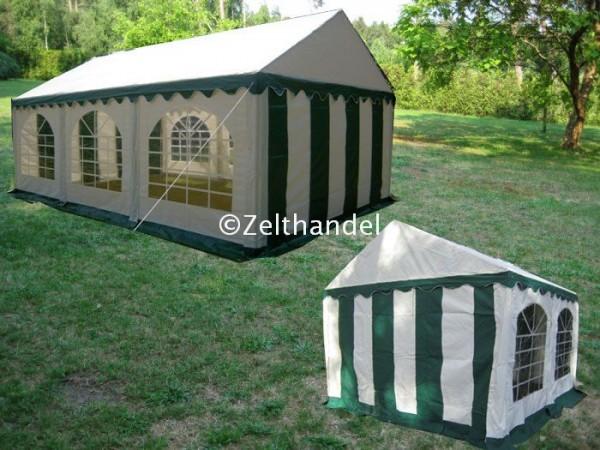 Kombizelt 4x6/4x4 grün-weiß mit 2 Dachplanen