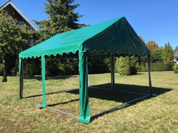 4x4m Dachplane grün PVC wasserdicht