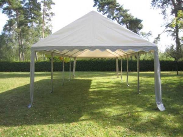 Zeltdach 4x8m, PVC grau-weiß