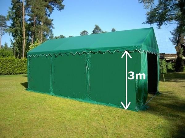 Lagerzelt 3x6 XXL PVC grün - 3m Einfahrtshöhe