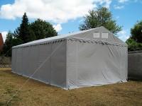 Lagerzelt 5x10 XXL PVC grau - 3m Einfahrtshöhe