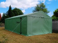 stabiles Lagerzelt 50qm² PVC 3m Einfahrt