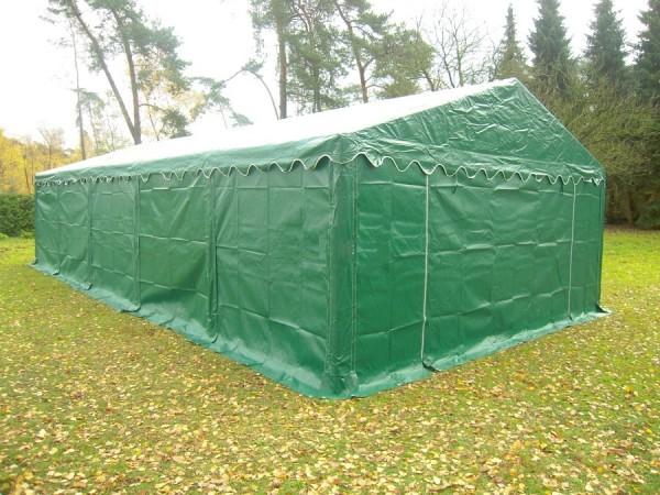 5x10m Lagerzelt grün wetterfest PVC