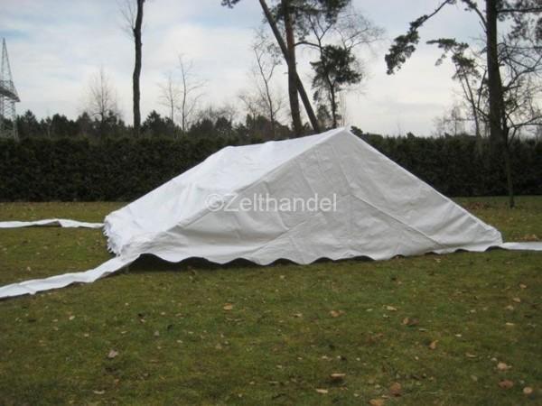Zelt-Dach 4x10m, PVC weiß