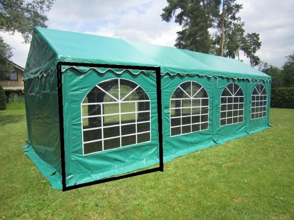 Zelt-Seitenwand für Lagerzelt XXL grün mit Fenster