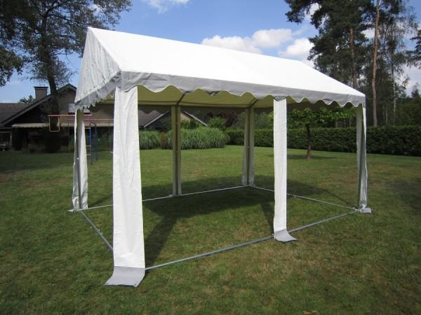 Zelt-Dach 4x4m PVC grau-weiß