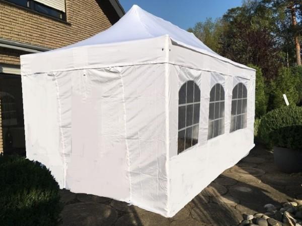 stabiles Faltzelt Pavillon ALU 3x4,5m weiß