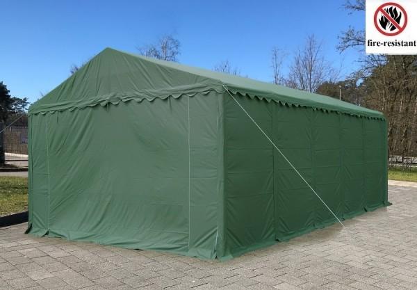 Lagerzelt 4x10 XXL grün PVC - 3m Einfahrtshöhe