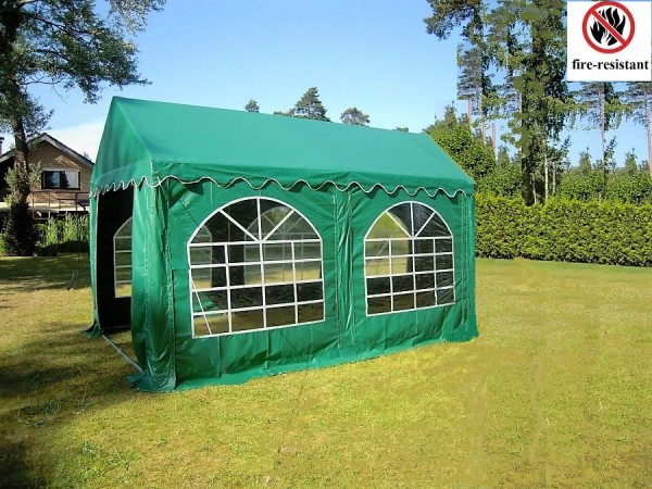 3x4m Zelt PVC grün feuerfest