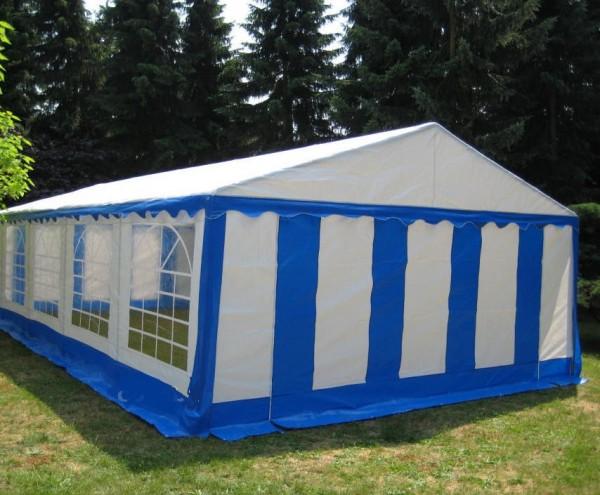5x8 m Partyzelt, PE blau-weiß