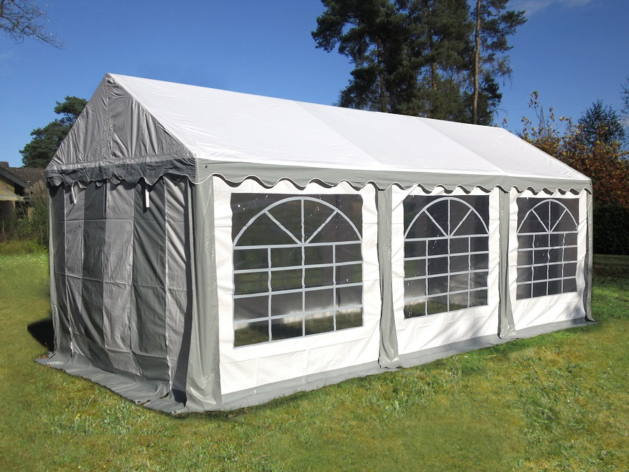 Partyzelt 3x6 m PVC grau stabil und wasserdicht!